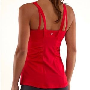 New Lululemon Active Strength Red Tank